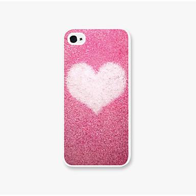 capa de iphone 4 do caso do iphone do teste padrão do amor da neve