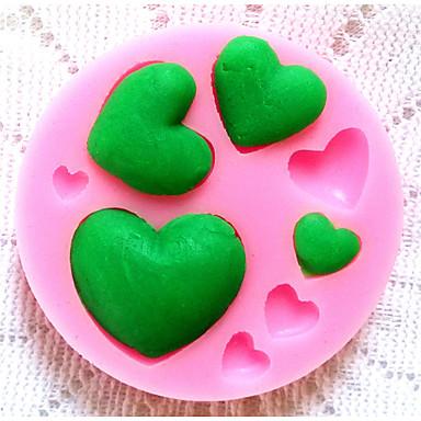 moldes de silicone bakeware coração cozimento para fondant doces bolo de chocolate