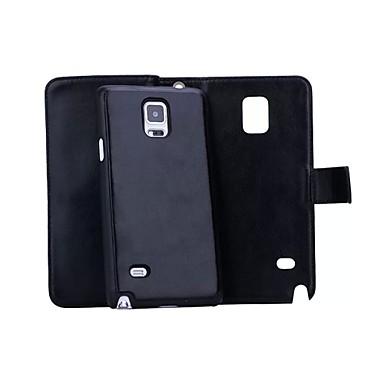 voordelige Galaxy Note-serie hoesjes / covers-hoesje Voor Samsung Galaxy Note 5 / Note 4 / Note 3 Portemonnee / Kaarthouder / Magnetisch Volledig hoesje Effen Hard PU-nahka