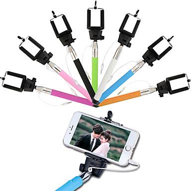 suporte ajustável com fio vara selfie auto-temporizador para IOS e Android (cores sortidas)