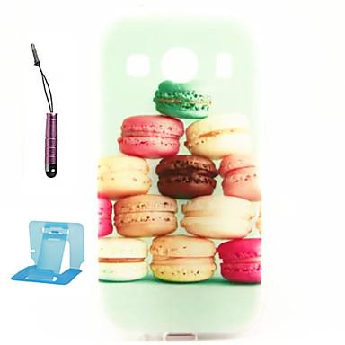Capinha Para Samsung Galaxy Samsung Galaxy Capinhas Estampada Capa Traseira Desenho Animado TPU para Ace 4
