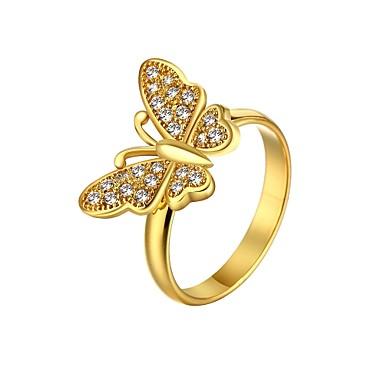 Κρίκοι Γάμου / Πάρτι / Καθημερινά / Causal / Αθλητικά Κοσμήματα Επιχρυσωμένο Γυναικεία Εντυπωσιακά Δαχτυλίδια 1pc,8 Χρυσαφί / Τριανταφυλλί