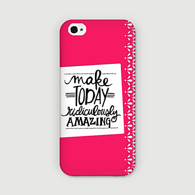 Capinha Para Apple iPhone 6 iPhone 6 Plus Estampada Capa traseira Palavra / Frase Rígida PC para iPhone 6s Plus iPhone 6s iPhone 6 Plus