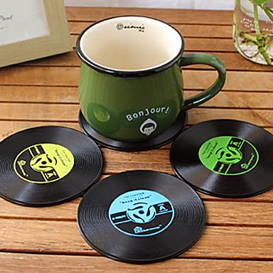 εκλεκτής ποιότητας βινύλιο παρκ groovy cd ρεκόρ ποτά μπαρ τραπέζι ματ κύπελλο 1pc (ramdon χρώμα)