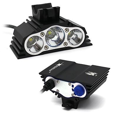 baratos Lanternas de Cabeça-Lanternas de Cabeça Kits de Lanternas Lâmpadas LED LED LED 3 Emissores 7500 lm 4.0 Modo Iluminação Impermeável Campismo / Escursão / Espeleologismo Uso Diário Ciclismo Preto