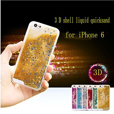 Voor iPhone 6 hoesje / iPhone 6 Plus hoesje Schokbestendig / Stromende vloeistof / Transparant hoesje Achterkantje hoesje Glitterglans