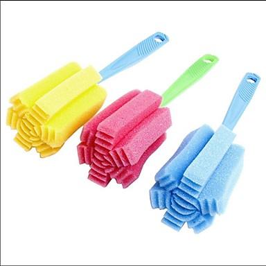 limpeza de casa escova esponja ferramenta para cor aleatória copo garrafa wineglass coffe chá de vidro cozinha