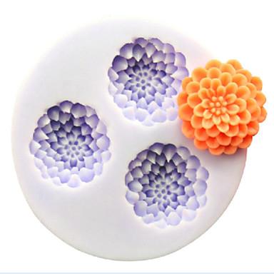 bakeware λουλούδι σιλικόνης μήτρες σε σχήμα ψησίματος για κέικ φοντάν σοκολάτας καραμέλα (τυχαία χρώματα)