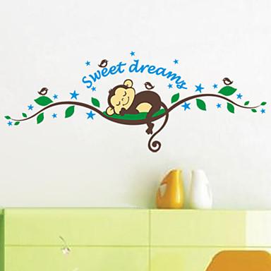 Животные Мультипликация 3D Наклейки Простые наклейки Декоративные наклейки на стены, Винил Украшение дома Наклейка на стену Стена