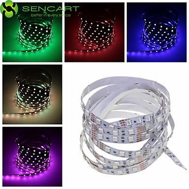 SENCART Ευέλικτες LED Φωτολωρίδες 60 LEDs Θερμό Λευκό RGB Άσπρο Ροζ Πράσινο Κίτρινο Μπλε Κόκκινο Τηλεχειριστήριο Μπορεί να κοπεί Με