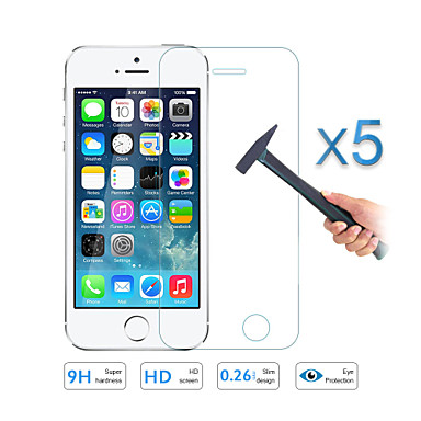 5pcs kwaliteit gehard glas film screen protector voor Apple iPhone 5 5s