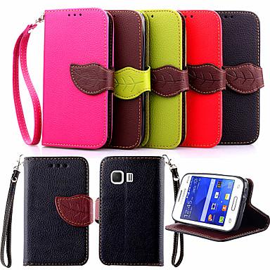 Para Samsung Galaxy Capinhas Porta-Cartão / Com Suporte / Flip Capinha Corpo Inteiro Capinha Cor Única Couro PU Samsung Young 2