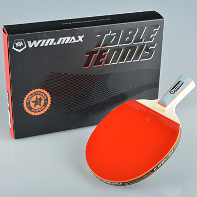 winmax® 1 αστέρι ενιαίο Πινγκ πονγκ / πινγκ-πονγκ ρακέτα μικρή λαβή με ένα κουτί συσκευασίας χρωμάτων