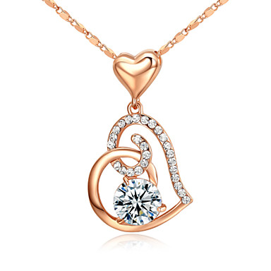 Dames Vorm Vintage Schattig Feest Werk Informeel Liefde Birthstones Geboortestenen Hangertjes ketting Kristal Gesimuleerde diamant