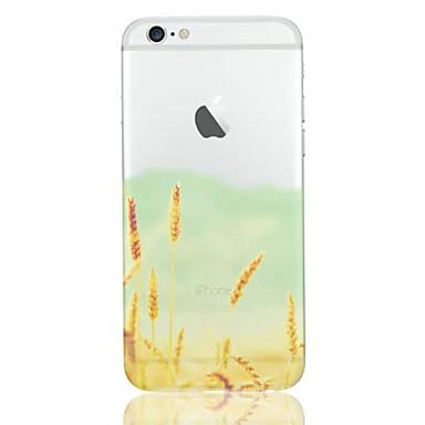 escudo do telefone padrão de trigo material de TPU fino para iphone 6