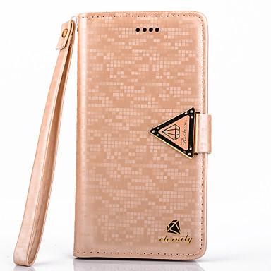 Para Samsung Galaxy Capinhas Porta-Cartão / Com Suporte / Flip Capinha Corpo Inteiro Capinha Cor Única Couro PU Samsung S5