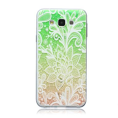 Voor Samsung Galaxy hoesje Transparant / Patroon hoesje Achterkantje hoesje Bloem TPU Samsung E7