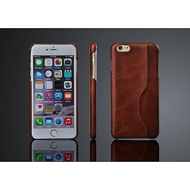 Para iPhone 8 iPhone 8 Plus iPhone 6 Plus Case Tampa Capa Traseira Capinha Rígida Couro Legítimo para iPhone 8 Plus iPhone 8 iPhone 6s