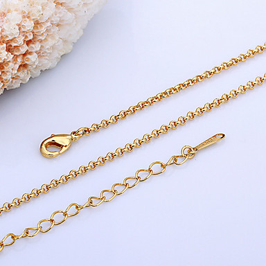 cheap Necklaces-Women's Chain Necklace 18K Gold Plated Pearl Ladies Gold White Necklace Jewelry For