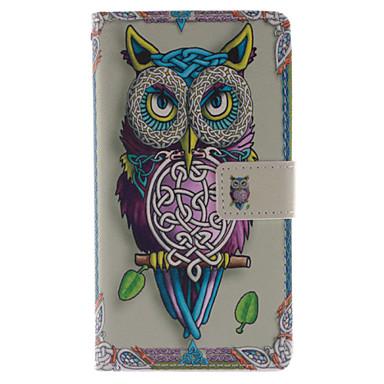Para Samsung Galaxy Note Carteira / Porta-Cartão / Com Suporte / Flip Capinha Corpo Inteiro Capinha Coruja Couro PU Samsung Note 3