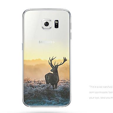 Para Samsung Galaxy Capinhas Case Tampa Transparente Com Relevo Capa Traseira Capinha Animal PUT para Samsung S6 edge