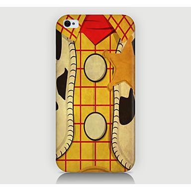 tampa traseira da caixa do teste padrão da madeira da grade para casos do iphone do telefone 4 / 4s