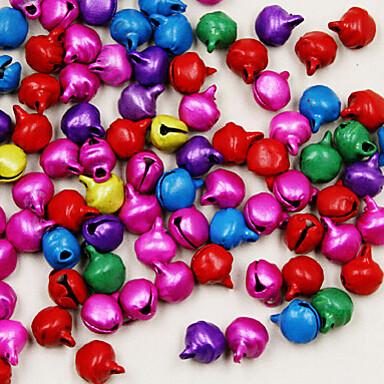 beadia 450pcs καμπάνες μικτά χρώματα κουδούνισμα 6 χιλιοστά χάντρες γοητεία για τα Χριστούγεννα DIY εξαρτήματα