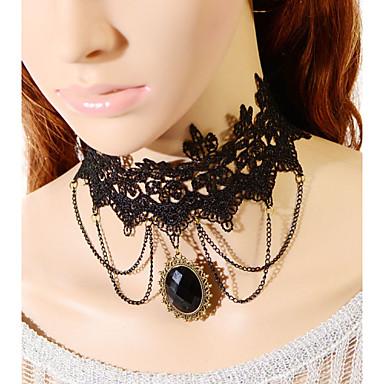 grande colar de jóia do laço do vintage