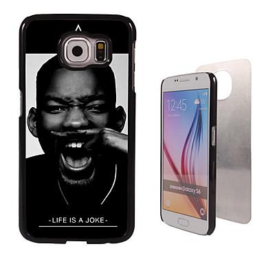 Para Samsung Galaxy Capinhas Case Tampa Estampada Capa Traseira Capinha Preto e Branco PC para Samsung Galaxy S6
