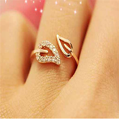 d73939f243d3b1 Women's Open Cuff Ring Adjustable Ring thumb ring Leaf Cheap Ladies Simple  Basic Fashion Bling Bling