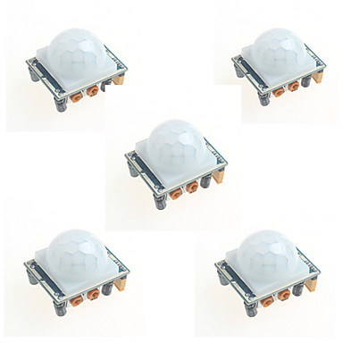 5pcs hc-SR501 modulo induzione del corpo umano pir sonda a raggi infrarossi per arduino