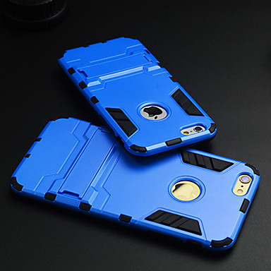 Para Capinha iPhone 6 Capinha iPhone 6 Plus Case Tampa Antichoque Com Suporte Capa Traseira Capinha Armadura Rígida PUT paraiPhone 6s