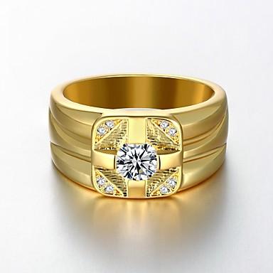 Homens Mulheres Anéis Grossos , Clássico Chapeado Dourado Princesa Jóias Casamento Festa Festa / Noite Diário Casual Esportes