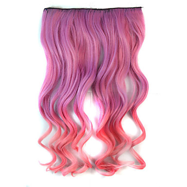 mix kleur body wave synthetische dikke hair extensions clip-on hair