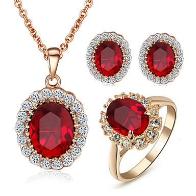 Γυναικεία Σετ Κοσμημάτων Κρυστάλλινο Συνθετικό Diamond Κρύσταλλο Cubic Zirconia Προσομειωμένο διαμάντι Κράμα Πετράδια σχετικά με τον μήνα