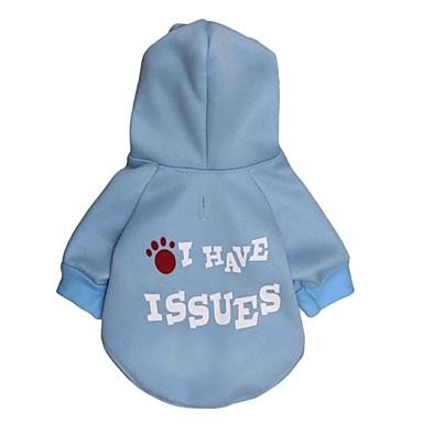 Γάτα Σκύλος Παλτά Φούτερ με Κουκούλα Ρούχα για σκύλους Γράμμα & Αριθμός Πολική Προβιά Βαμβάκι Στολές Για κατοικίδια Στολές Ηρώων