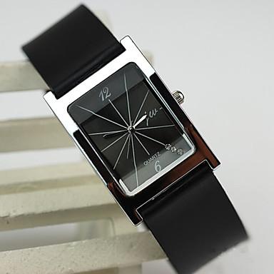 Mulheres Relógio de Moda Relógio Casual Quartzo PU Banda Preta