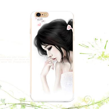 Para Capinha iPhone 5 Estampada Capinha Capa Traseira Capinha Mulher Sensual Macia TPU para iPhone SE/5s iPhone 5