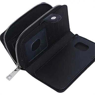 Para Samsung Galaxy Capinhas Porta-Cartão / Carteira / Magnética Capinha Corpo Inteiro Capinha Cor Única Couro Legitimo SamsungS7 edge /
