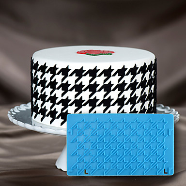 bolo de molde decoração 3d bolo estêncil molde houndstooth para fondant de chocolate e artes& artes