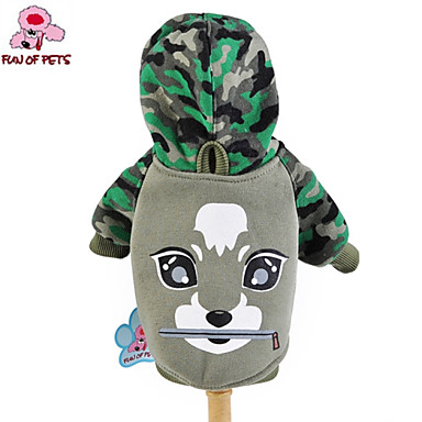 cheap Dog Clothing & Accessories-Cat Dog Shirt / T-Shirt Hoodie Dog Clothes Cartoon Camo / Camouflage Cotton Costume For Winter Cosplay Wedding