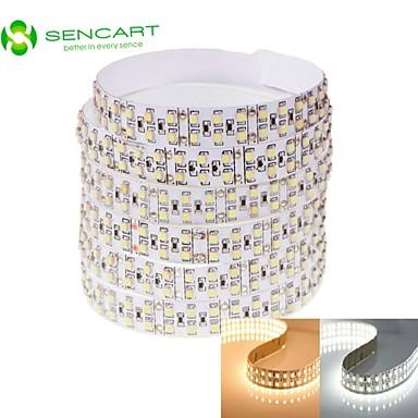 SENCART 2m Ευέλικτες LED Φωτολωρίδες 240 LEDs Θερμό Λευκό / Άσπρο Τηλεχειριστήριο / Μπορεί να κοπεί / Με ροοστάτη 12V / 3528 SMD