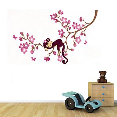 muurstickers muur stickers stijl ondeugende aap klimmen boom pvc muurstickers