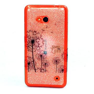 Voor Nokia hoesje Hoesje cover Patroon Achterkantje hoesje Paardebloem Zacht TPU voor Nokia Nokia Lumia 640