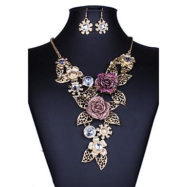 Pentru femei Seturi de bijuterii Crom Floare Euramerican Nuntă Petrecere Ocazie specială Zi de Naștere Felicitări Afaceri Logodnă Casual