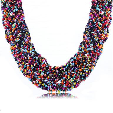 Női Bohém Divat Rövid nyakláncok Akril Strassz Rövid nyakláncok , Napi Hétköznapi