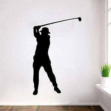 adesivos de parede do estilo adesivos de parede parede personagens golfe e esportes pvc adesivos