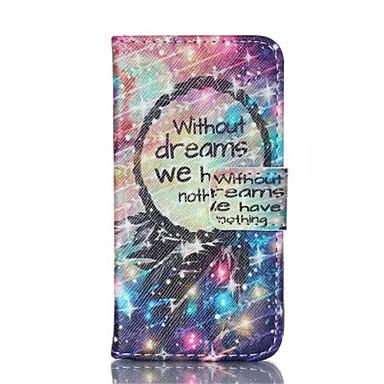 ster dreamcatcher patroon pu leer geschilderd telefoon Case voor iPhone 4 / 4s