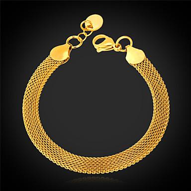 Kadın Zincir & Halka Bileklikler Bileklik Moda kostüm takısı Paslanmaz Çelik Altın Kaplama Mücevher Uyumluluk Düğün Parti Özel Anlar
