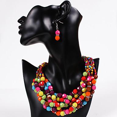 Κοσμήματα Σετ - Cubic Zirconia Βίντατζ, Πάρτι, Καθημερινό Περιλαμβάνω Ουράνιο Τόξο Για Πάρτι / Cercei / Κολιέ